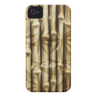 Bamboo Wood Texture iPhone 4 Case-Mate Case