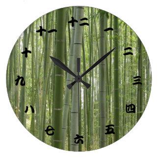 Bamboo Woods, Japanese Kanji Clock