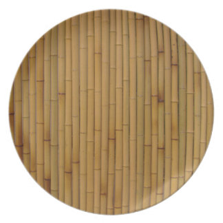 Bamboo-Yellow Party Plates