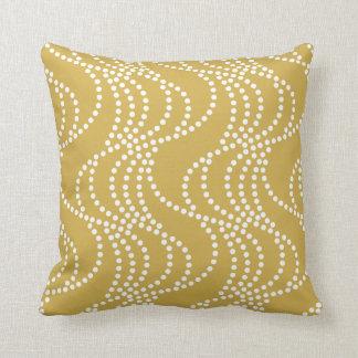 Bamboo Yellow Wave Pattern Pillow