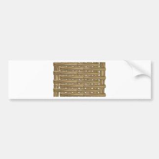BambooTexture042810 Etiqueta De Parachoque