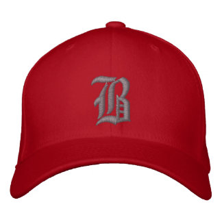 Bamboozled Fitted Cap- Red/Dk Grey Embroidered Baseball Cap