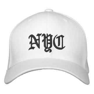 Bamboozled Fitted Cap- White/Black Embroidered Baseball Hat