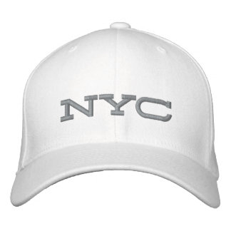 Bamboozled Fitted Cap- White/Grey Embroidered Baseball Hat