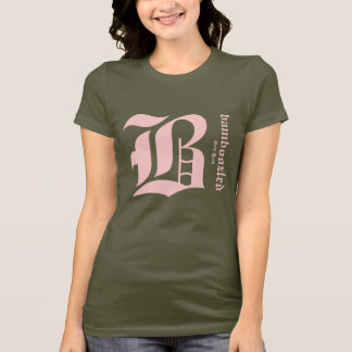 Bamboozled Women's Cotton T-Shirt-  Army/Pink T-Shirt
