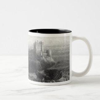 Bamborough Castle, engraved by S. Bradshaw Two-Tone Coffee Mug
