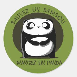 Bambou de la O N U de Sauvez Pegatinas