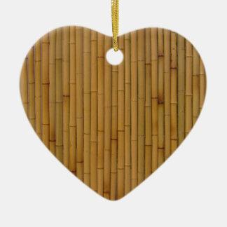 Bambú-Amarillo Ornamento Para Arbol De Navidad