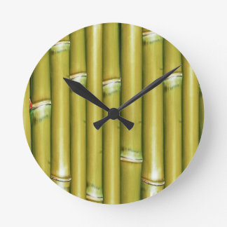 Bambú amarillo relojes de pared
