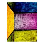 bambú coloreado postales
