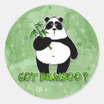 ¿bambú conseguido? etiqueta redonda