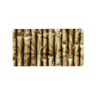 Bambú de Asia Etiqueta De Dirección
