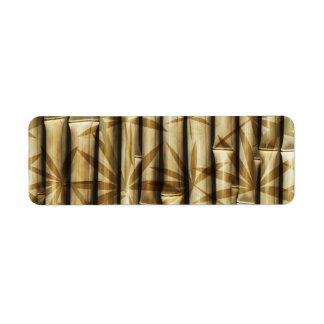 Bambú de Asia Etiqueta De Remite