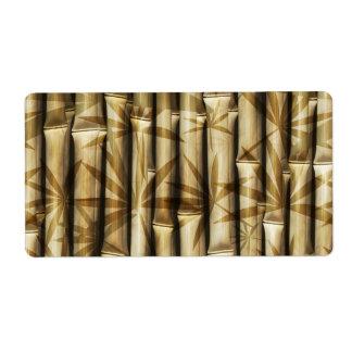 Bambú de Asia Etiqueta De Envío