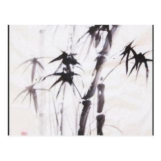 Bambú de la acuarela tarjeta postal