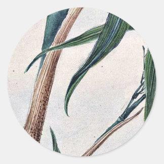 Bambú de la toma/Megata Ukiyo-e. Etiqueta Redonda