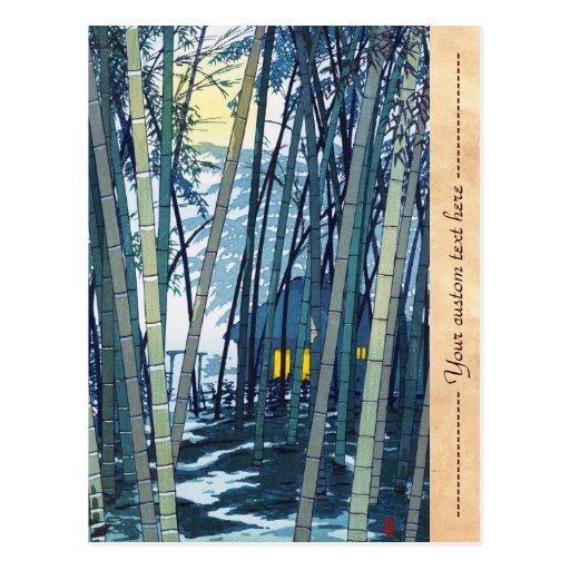 Bambú de Shiro Kasamatsu en arte del comienzo del  Postal