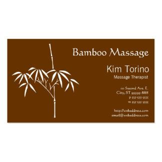 Bambú del japonés del terapeuta del masaje tarjetas de visita