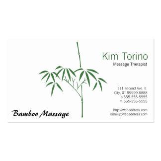 Bambú del jardín del terapeuta del masaje tarjetas de visita