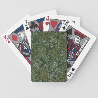 Bambú del oro y de la plata barajas de cartas
