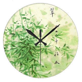 Bambú del vintage relojes de pared
