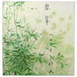 Bambú del vintage servilletas de papel