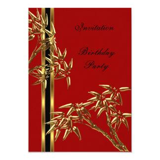 """Bambú elegante del asiático de la fiesta de invitación 5"""" x 7"""""""