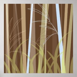 Bambú en la tierra Firma Póster