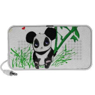 Bambú feliz de la panda iPod altavoz