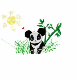 Bambú feliz de la panda esculturas fotograficas