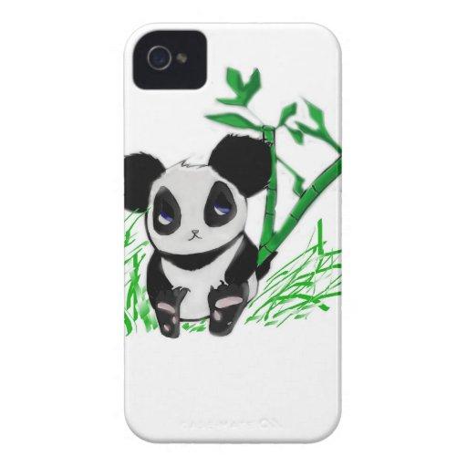 Bambú feliz de la panda Case-Mate iPhone 4 protector