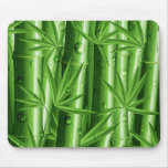 Bambú fresco con el rocío Mousepad Tapetes De Raton
