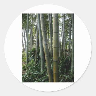 Bambú grande pegatina redonda