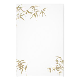 Bambú inmóvil papeleria de diseño