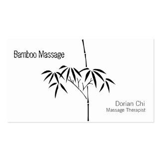 Bambú japonés del jardín tarjetas de visita