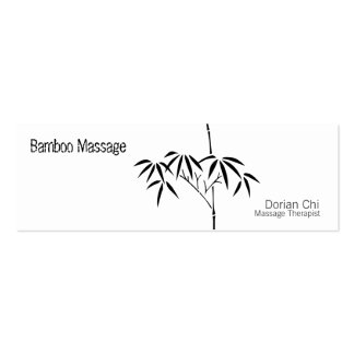 Bambú japonés del jardín tarjetas de visita mini