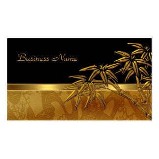 Bambú negro asiático del oro de la tarjeta del per tarjetas de visita