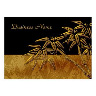 Bambú negro asiático del oro de la tarjeta del per plantillas de tarjeta de negocio