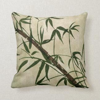 Bambú oriental 1 del vintage cojines