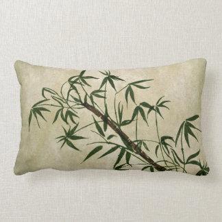Bambú oriental 1 del vintage cojin
