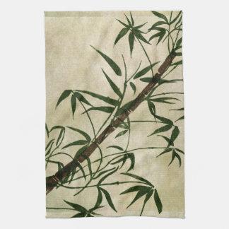 Bambú oriental 1 del vintage toallas