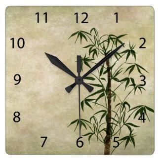 Bambú oriental 1 del vintage reloj