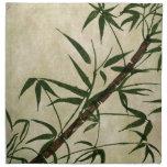 Bambú oriental 1 del vintage servilletas imprimidas