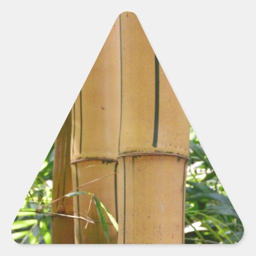 Bambú Calcomanías De Trianguloes Personalizadas