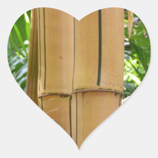 Bambú Calcomanías De Corazones Personalizadas