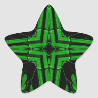 Bambú Pegatina En Forma De Estrella