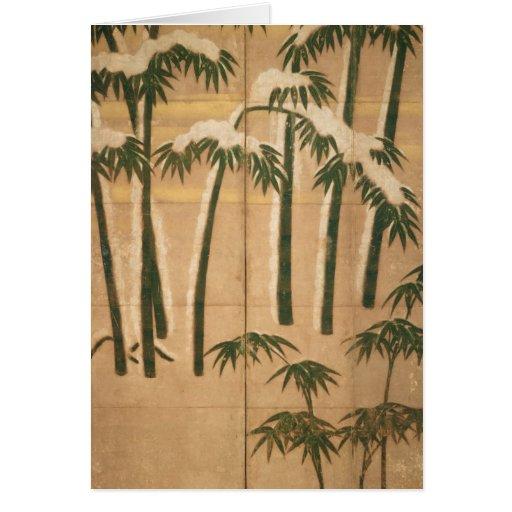Bambú, período de Momoyama Tarjeta De Felicitación
