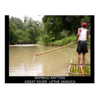 Bambú que transporta el gran río en balsa Lethe Postales