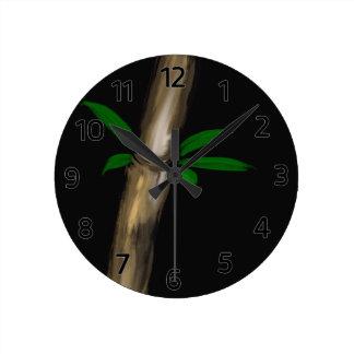 Bambú Reloj Redondo Mediano