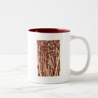bambú taza dos tonos